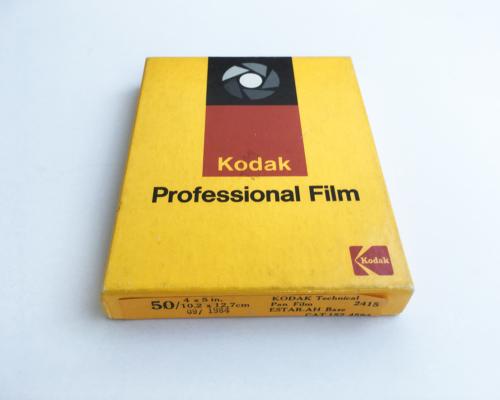 Kodak Technical Pan 4x5, Expired 09/1984