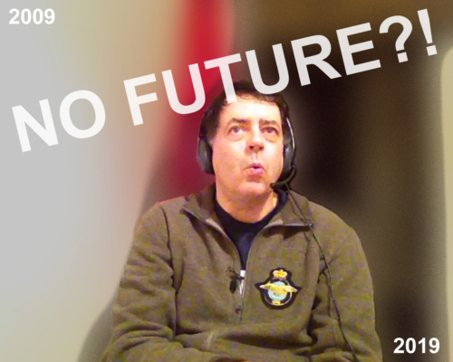 Auf Sendung bei Radio X in die Zukunft...