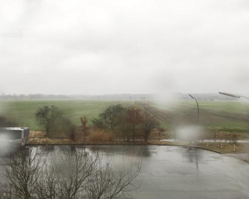 Bei Billwerder im Regen