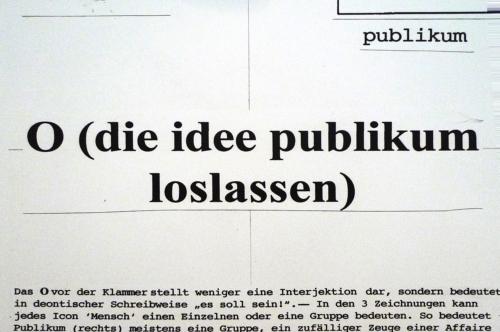 Die Idee Publikum loslassen. Grafik von Alsleben/Eske, ZKM 2010