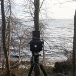 Kamera an der Steilküste bei Skjoltrup mit Blick über die Ostsee