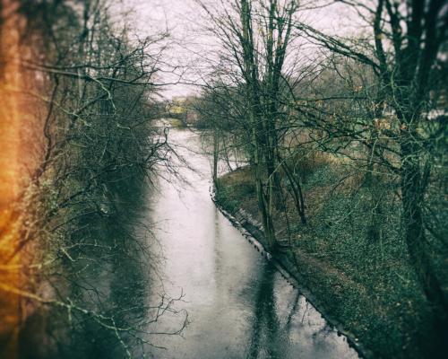 Die Wandse bei Einmündung in den Eilbek-Kanal