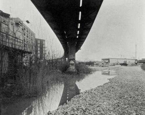 Rampe Bahngelände Altona Nord. Aufnahme analog 4x5 Großformat auf Fotopapier Kalotypie