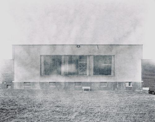 Fassade einer Industriehalle in Bahrenfeld. Nachbearbeitet mit Hipstamatic.