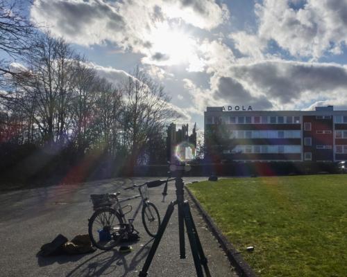 Schnell aufziehende Bewölkung am Standort in Bahrenfeld