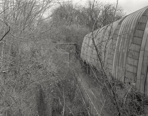 Am Portal des Schellfischtunnels in Hamburg Altona. Aufnahme im analogen GrossFormat 4x5.