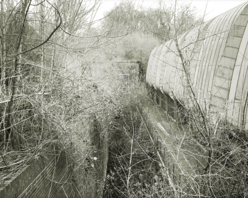 Am Südportal des Schellfischtunnels. Aufnahme digital mit Hipstamatic.