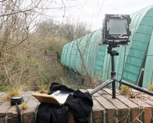 Kamera aufgebaut am Südportal des Schellfischtunnels