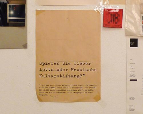 Lotto oder Hessische Kulturstiftung?