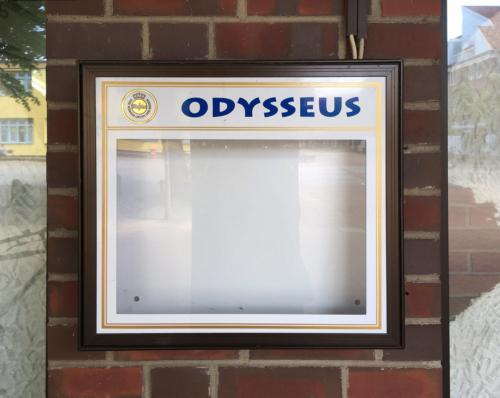 Lokalschild in Eidelstedt: Odysseus