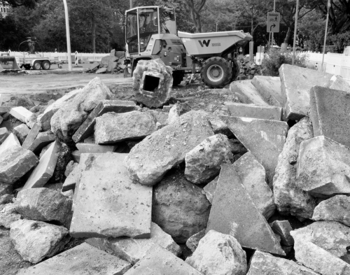 Baustelle Bleickenallee. Bild aus Röntgenfilm nach Bearbeitung