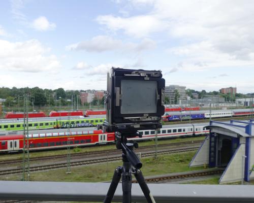 Kamera oberhalb des Bahngeländes in Stellingen
