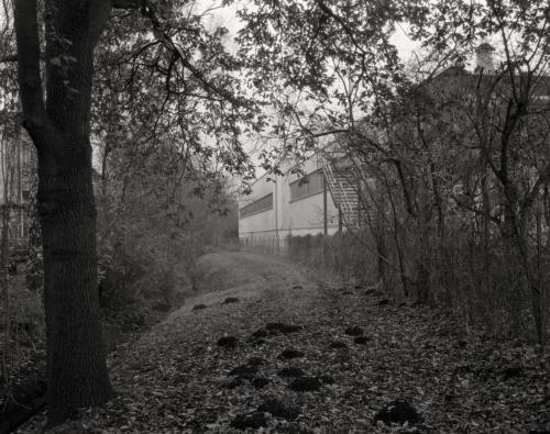 Die Mühlenau im Eidelstedter Gewerbegebiet. Aufnahme im Format 4x5 auf Röntgenfilm.