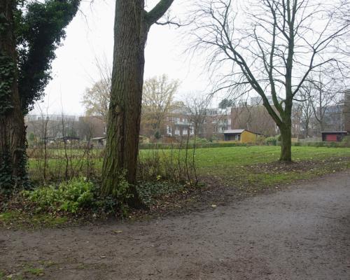 Parkanlage an der Mühlenau. Auf dem Weg nach Eidelstedt