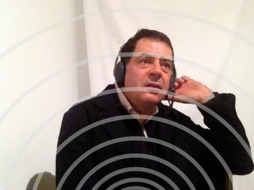 Auf Sendung im Heimstudio für Das Seminar auf Radio X