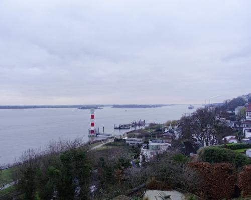 Die Elbe bei Blankenese. Letztes Foto in 2020.