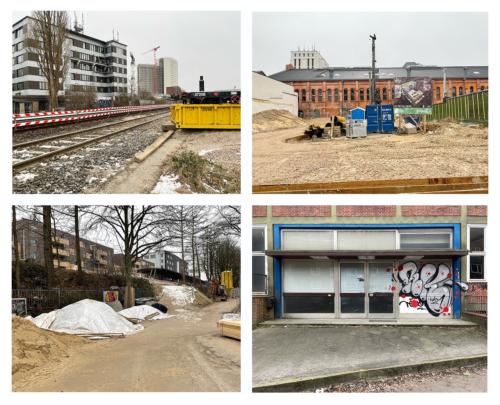 Baustellen Bahrenfeld im Vorübergehen bemerkt