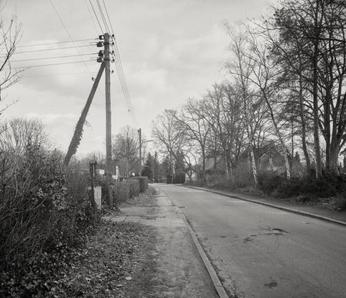 Am Holstenkamp in Hamburg Bahrenfeld. Aufnahme im Format 4×5 auf Kodak Ektapan.