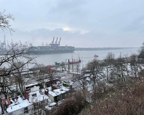 Die Elbe im Februar bei Neumühlen