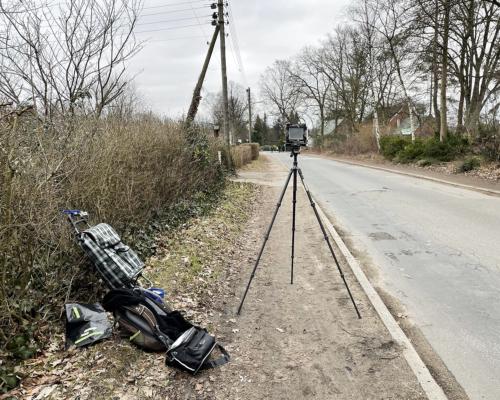 Am Holstenkamp in Hamburg Bahrenfeld mit der 4x5 Kamera