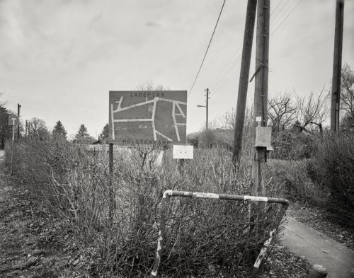 Lageplan Kleingartenanlage. Am Holstenkamp in Hamburg Bahrenfeld. Aufnahme im Format 4×5 auf Kodak Ektapan.