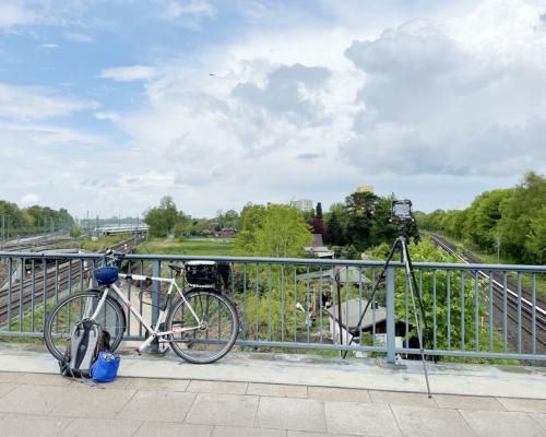 Kamera aufgestellt, Holstenkampbrücke