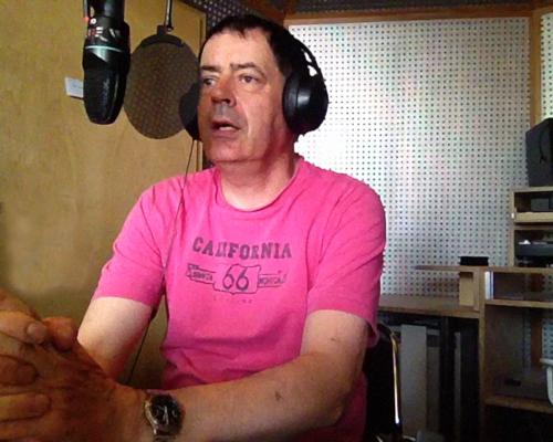 Auf Sendung bei Studio 2 von Radio X in Frankfurt Bockenheim