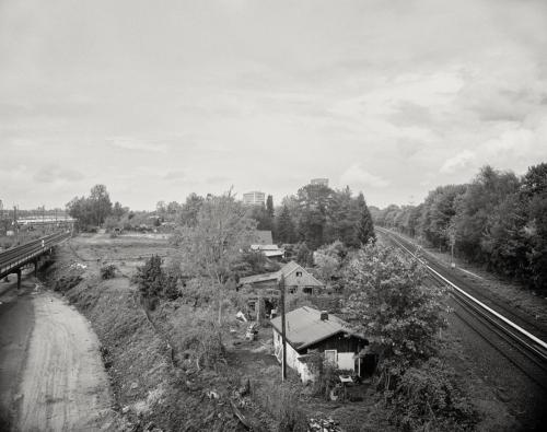 Bahngelände am Holstenkamp. Blick nach Langenfelde. Aufnahme im analogen Großformat 4x5.