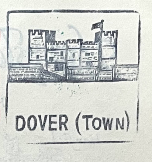 Stempel Jugendherberge Dover 1981