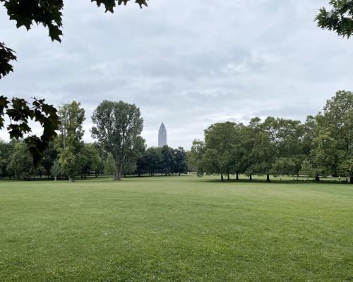 Grüneburgpark vor dem Regen