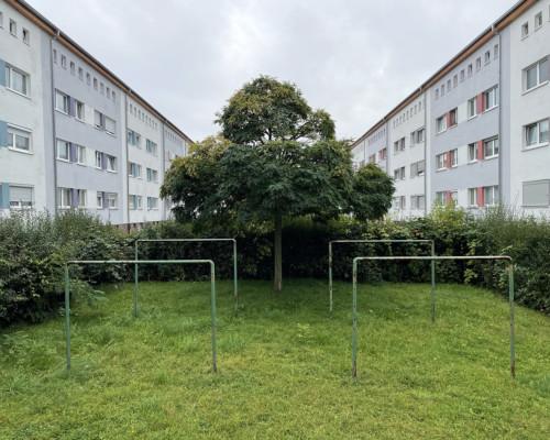 Innenhof. Ehingerstraße. Friedrich-Ebert-Siedlung. Frankfurt Gallus.